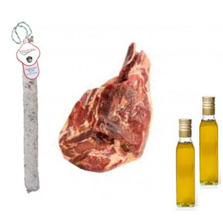 Lote Aceite + Salchichon + Serrano